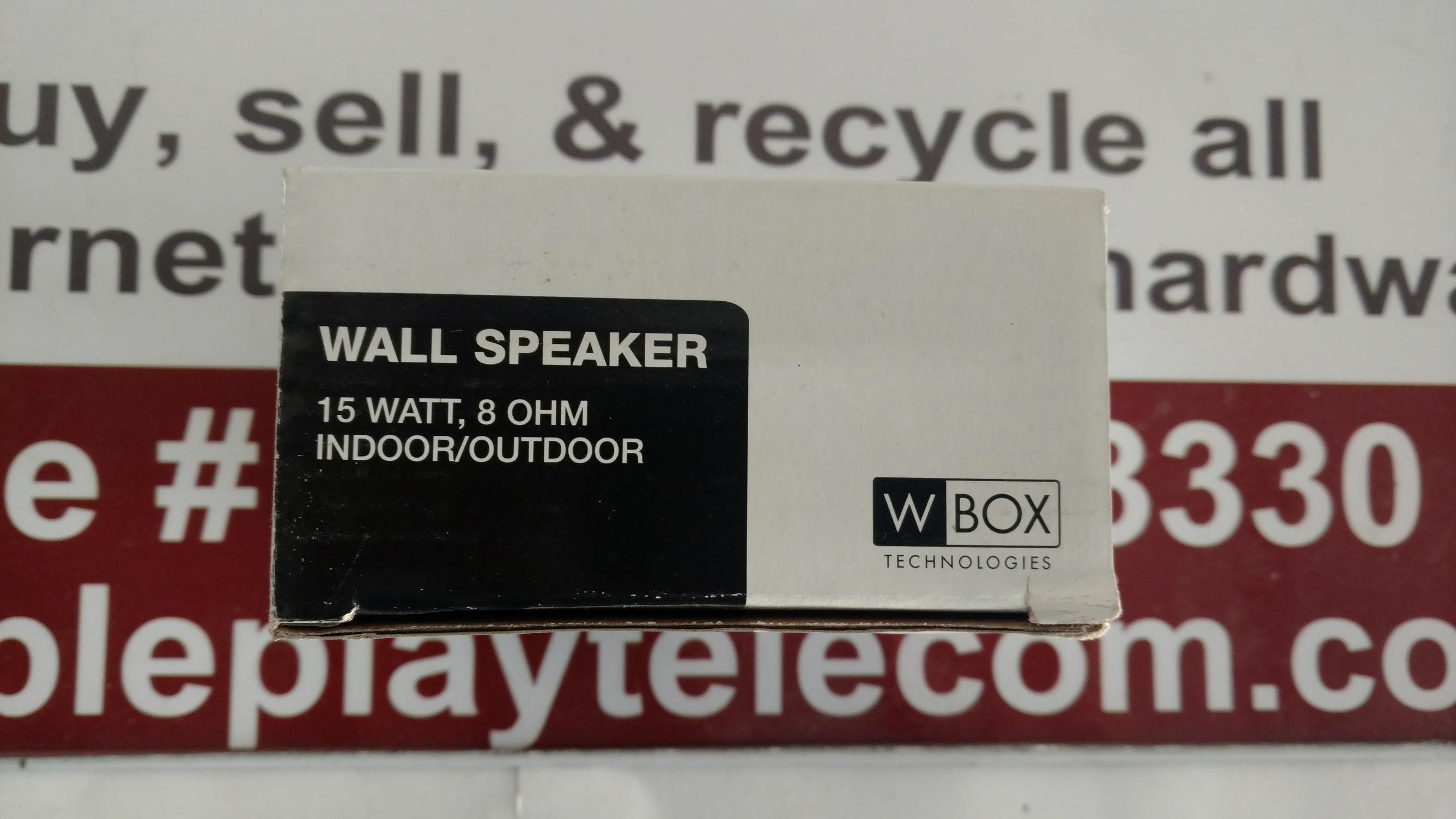 Details about Wbox Technologies 0E-WALLSPEKR Indoor/Outdoor Wall Speaker