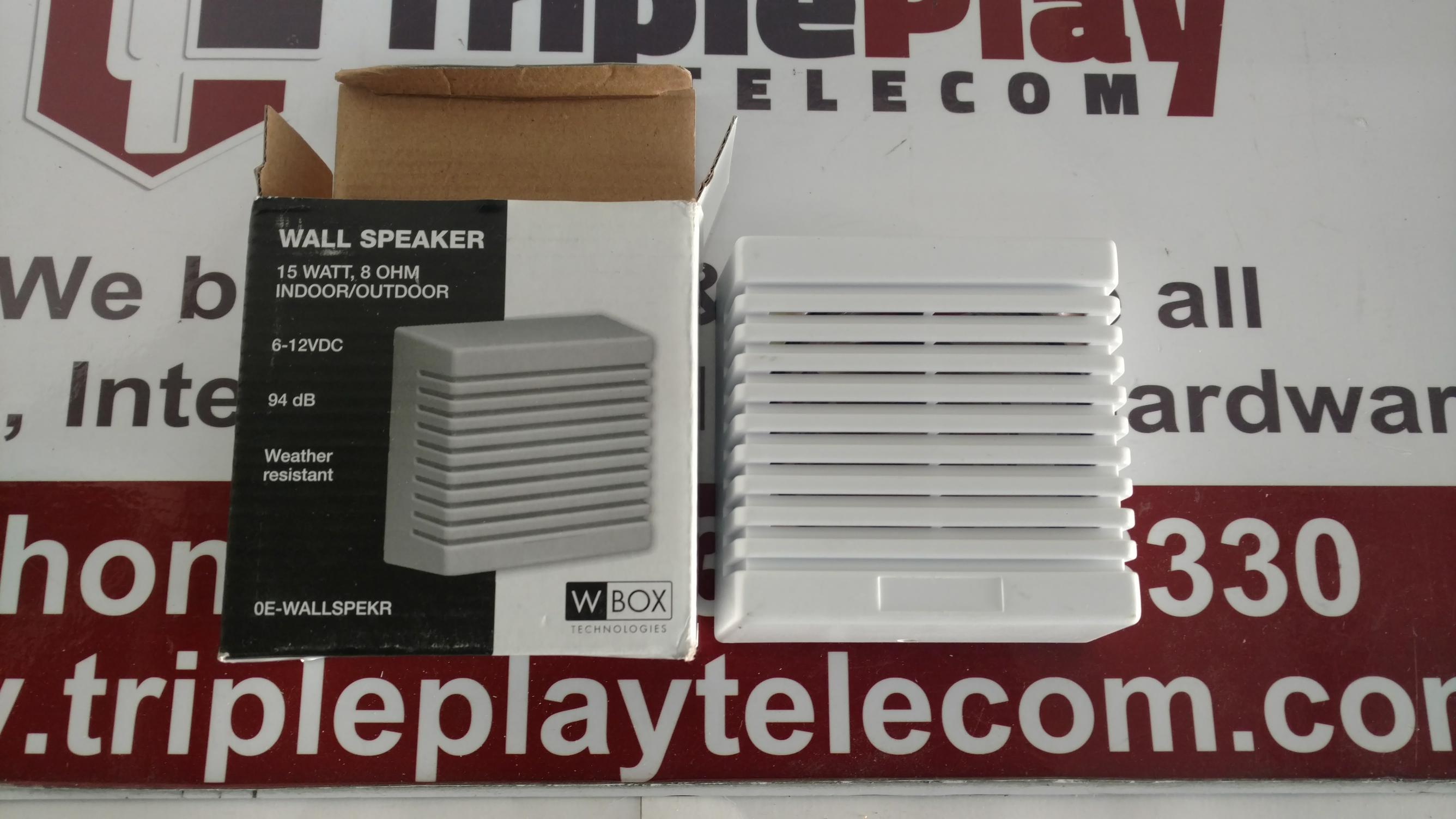 Wbox Technologies 0E-WALLSPEKR Indoor//Outdoor Wall Speaker
