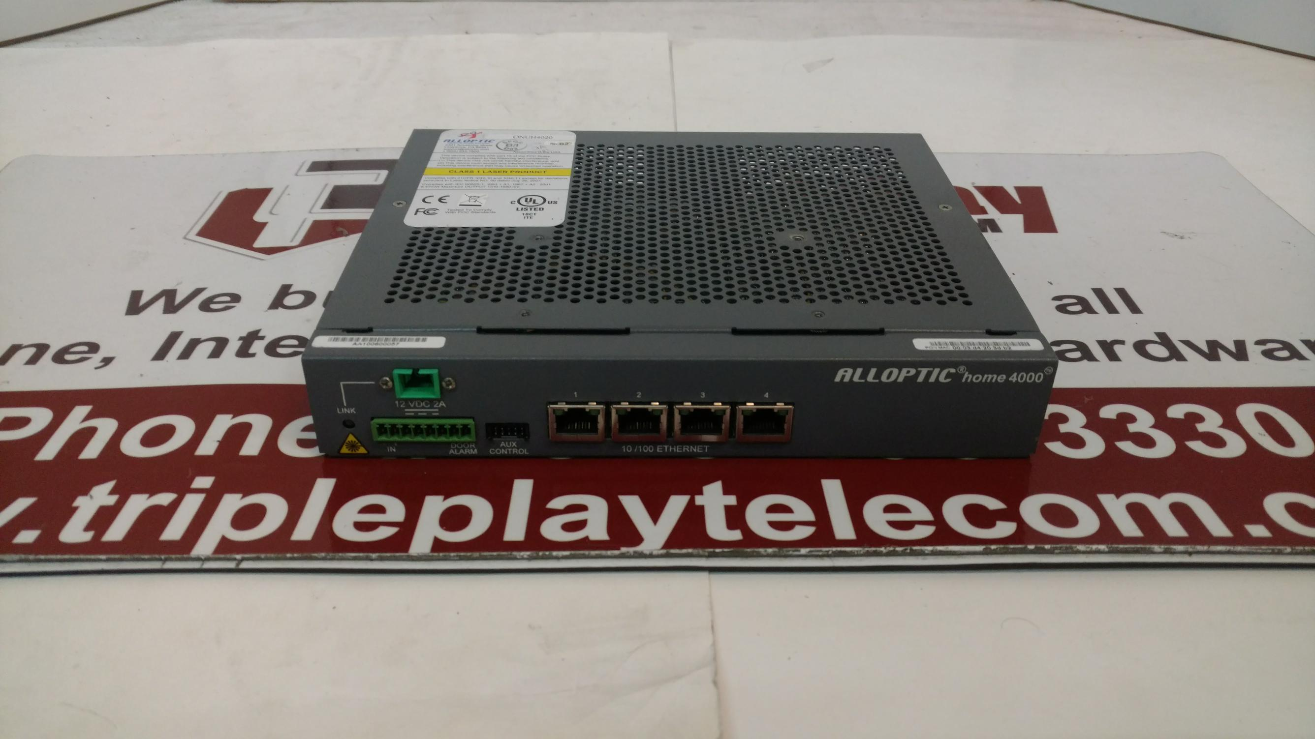 Details about ALLOPTIC Home 4000 4 ETHERNET, ONT P/N-ONUH4020
