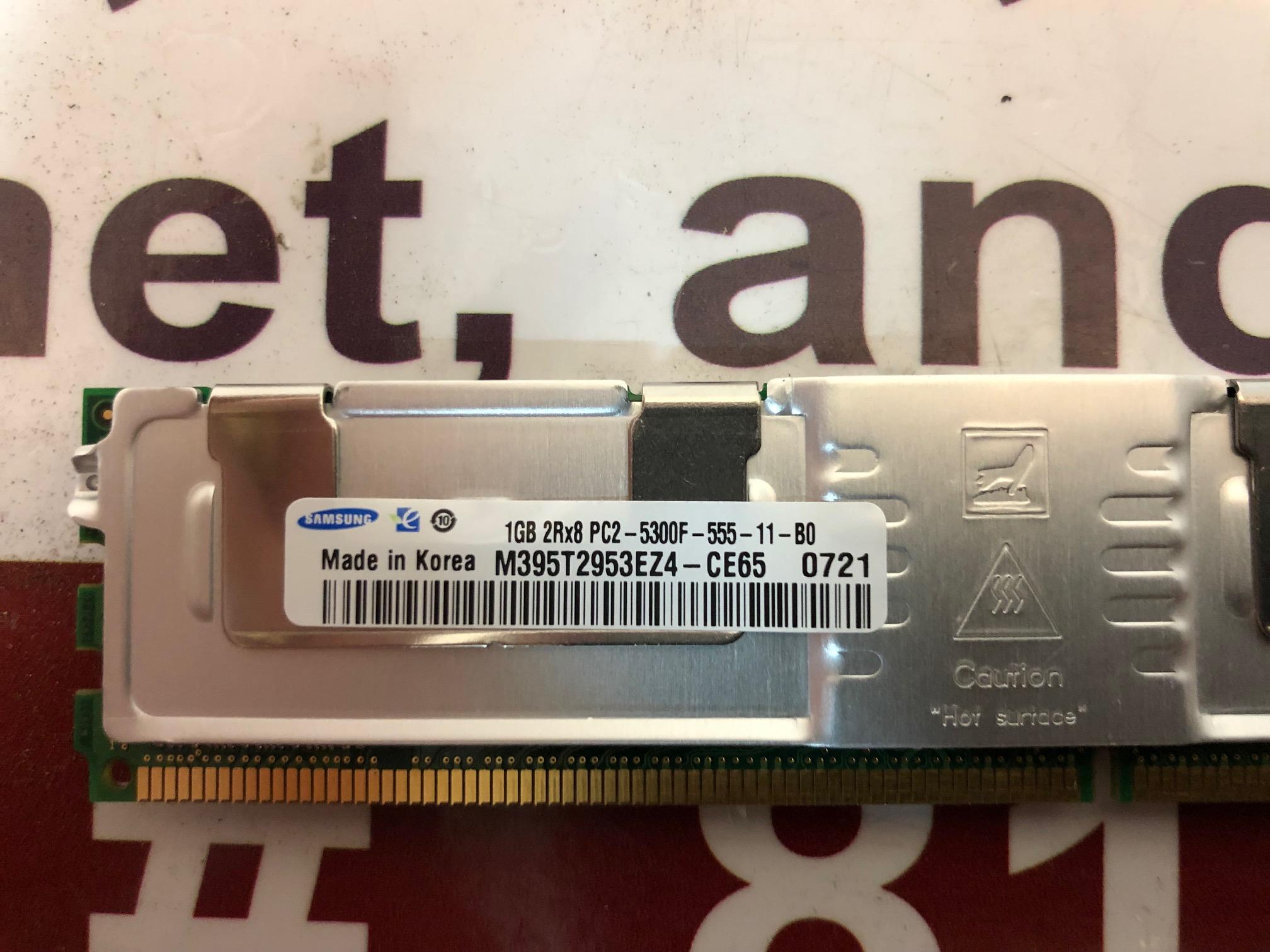 4x Samsung M395T2953EZ4-CE65 1GB 2Rx8 PC2-5300F Server RAM TESTED LOT:Z